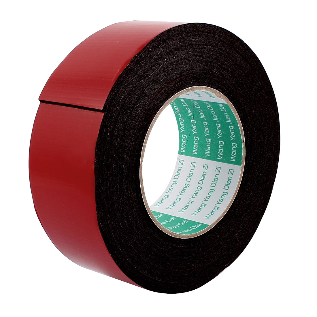 5M 16.4ft Long 50MMx2MM Width Red Strong Dual Sided Adhesive Tape Sponge Tape
