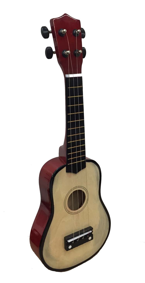 OMNI Ukulele Steel String Uke Guitar with Gig Bag Pitch Pipe and More Natural by