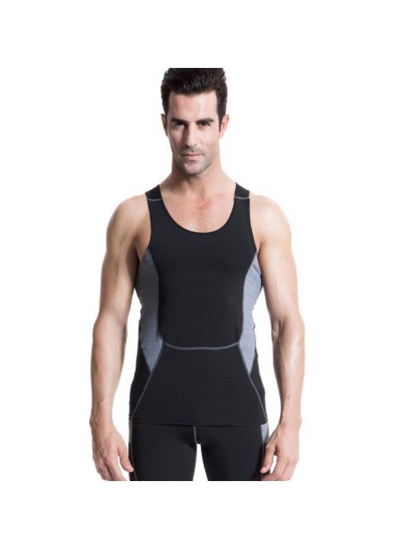 Ropalia Men Running Sports Sleeveless Vest Compression Base Layer Tops Gym Shirt