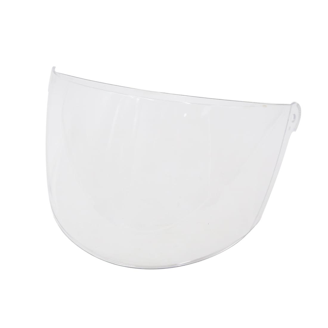 Clear Frameless Face Shield Lens Visor for 25cm Width Motorcycle Half Helmet