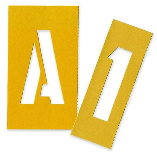 "Chartpak Painting Letters & Numbers Stencil - 3"" - Gothic - Yellow (CHA01560)"