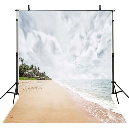 HelloDecor Polyster Photography Backgrounds Children 5x7ft Photo Backdrops Sea Beach Backgrounds Photography Background Studio Props