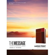 The Message Large Print (Leather-Look, Brown Trio) : The Bible in Contemporary Language
