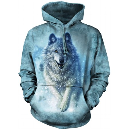 White Cotton Snow Plow Awesome Animal Hoodie Cool (Medium) (Crater Mountain Hoodie)