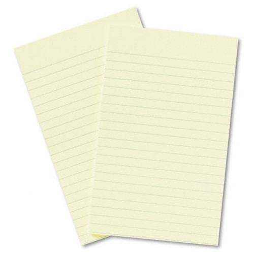 Post-it Notes 663 Original Pads In Canary Yellow, Lined, 5 X 8, 50-Sheet, 2/pack