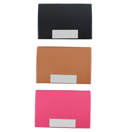 Faux Leather Outdoor Office Business Name Card Case Storage Cover Holder Box 3 Pack - image 6 of 6