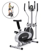 hot sales 096f3 ee500 Best Choice Products Elliptical Bike 2-in-1 Cross Trainer Exercise Fitness  Machine Upgraded