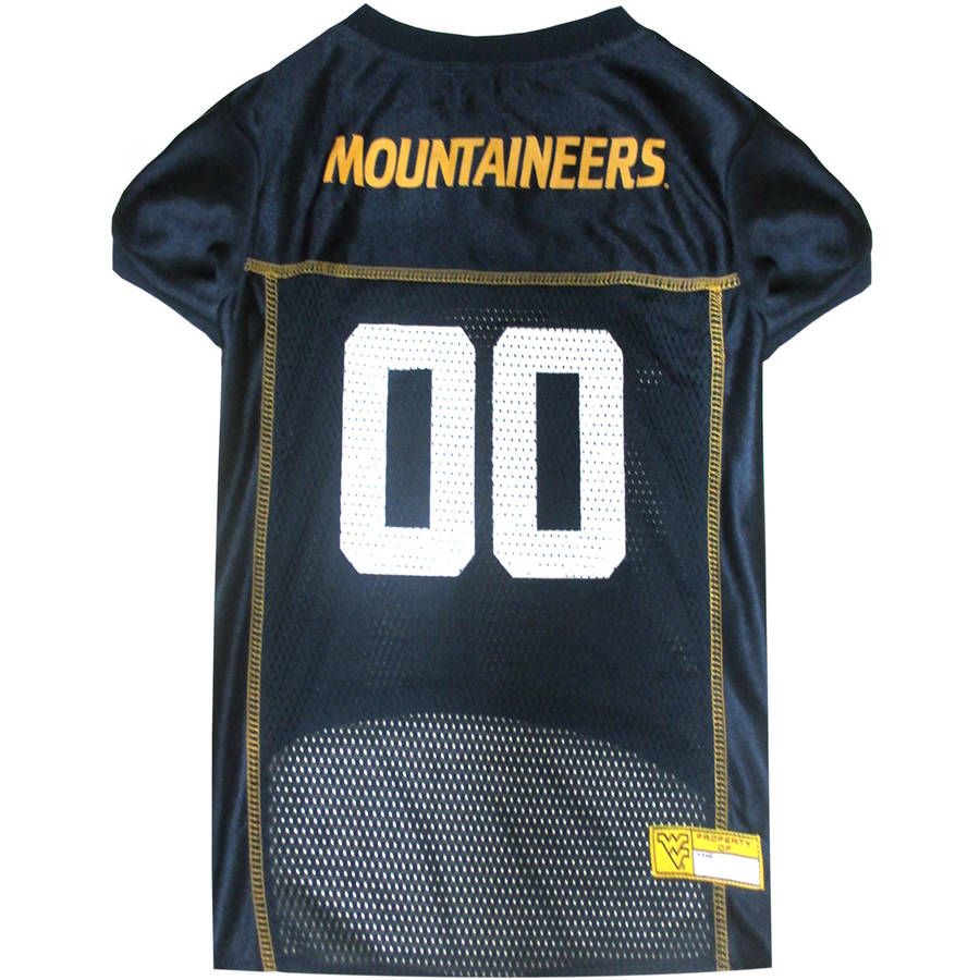 Pets First College West Virginia Mountaineers Collegiate Dog Jersey, Available in Various Sizes