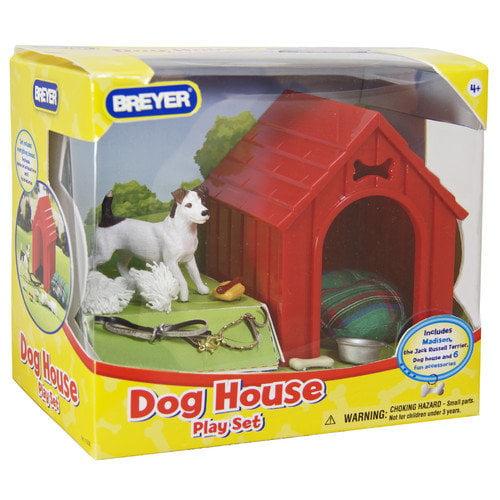 "Breyer ""Dog House"" Play Set with Dog Figurine"