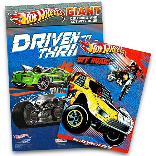 Hot Wheels Coloring Book Set 2 Books - Walmart.com - Walmart.com