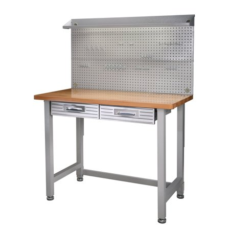 - Seville Classics (UHD20247B) UltraHD Lighted Workbench (48L x 24W x 65.5H Inches) Stainless Steel
