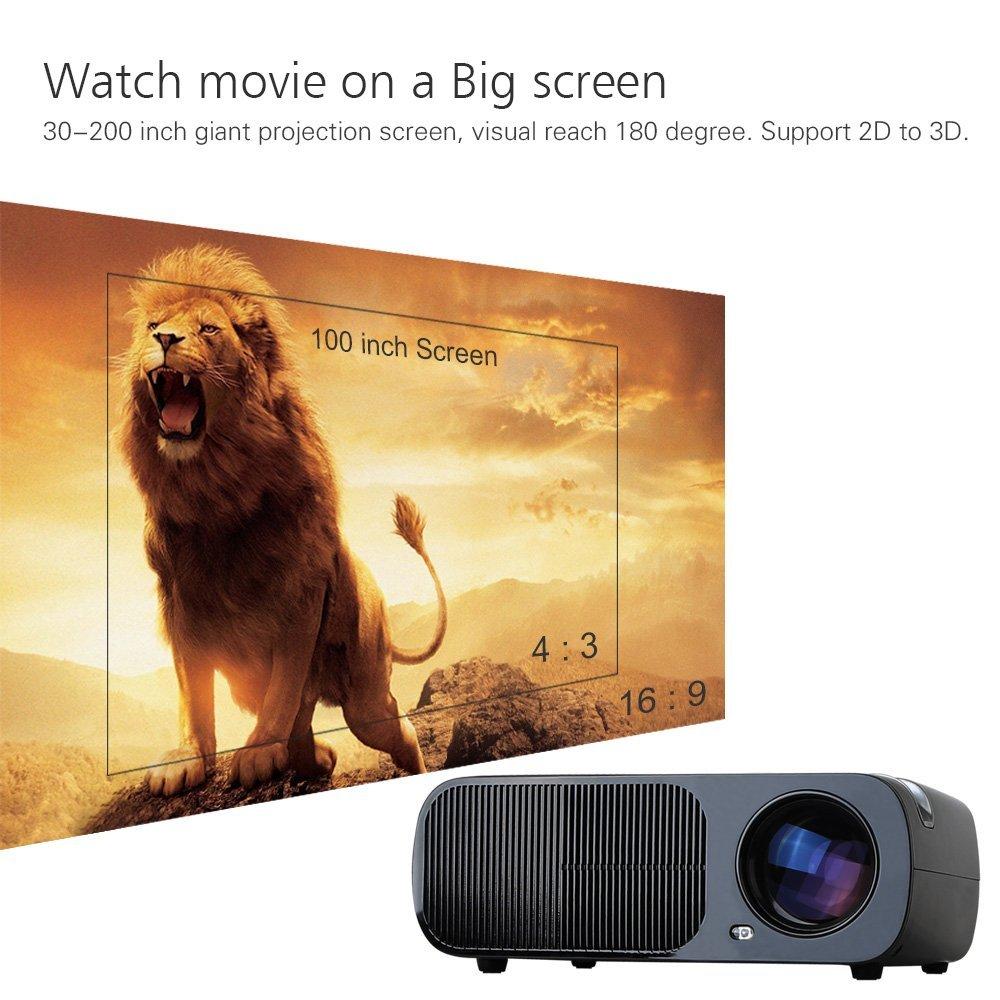 304bddb842d3f8 BL20 Video Projector Multimedia Home Theater 2600 lumen Movie Projectors  Support HD with HDMI/USB/AV/VGA input Remote Control - Walmart.com