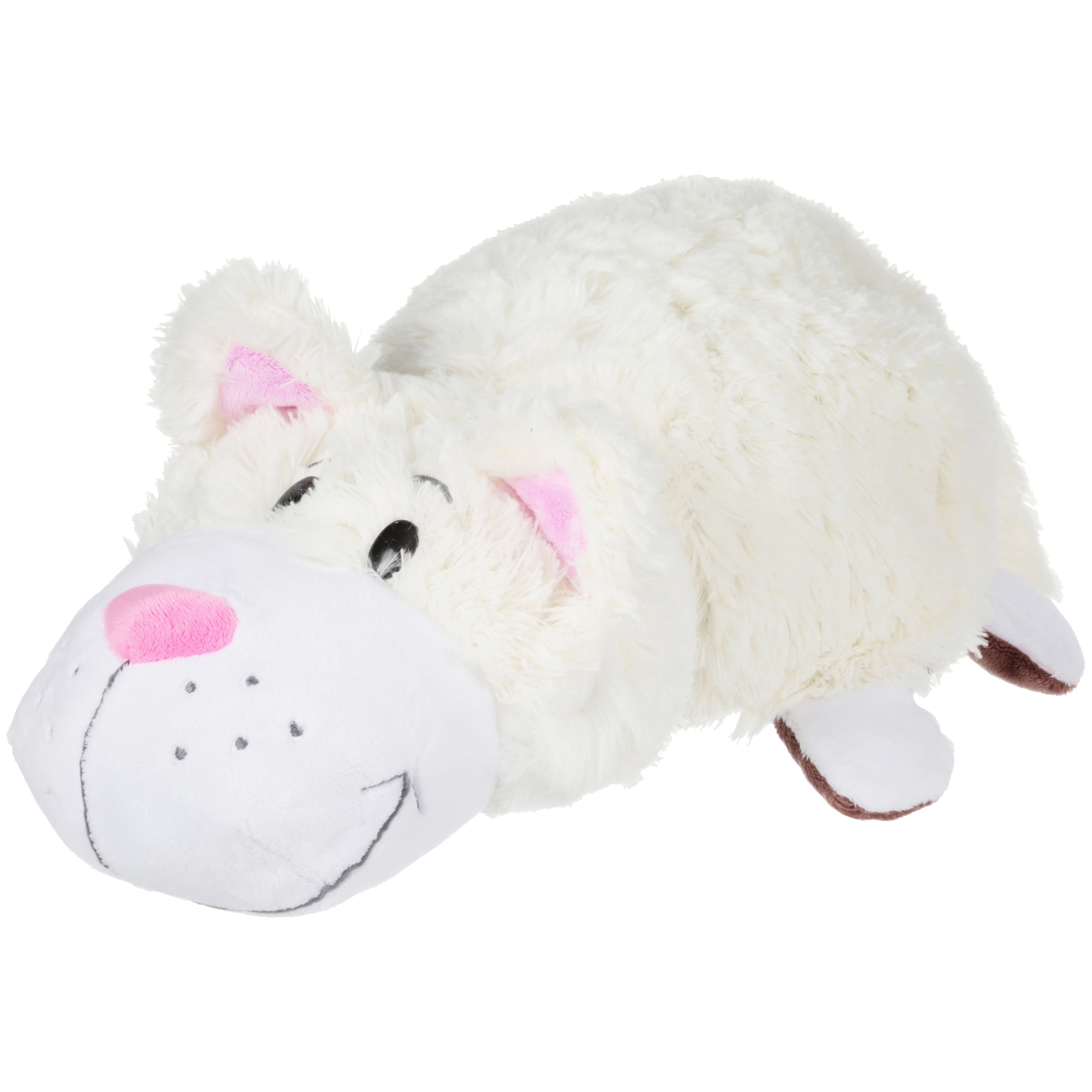 16 Chocolate Lab To White Cat Flipazoo 2 In 1 Plush Walmart Com