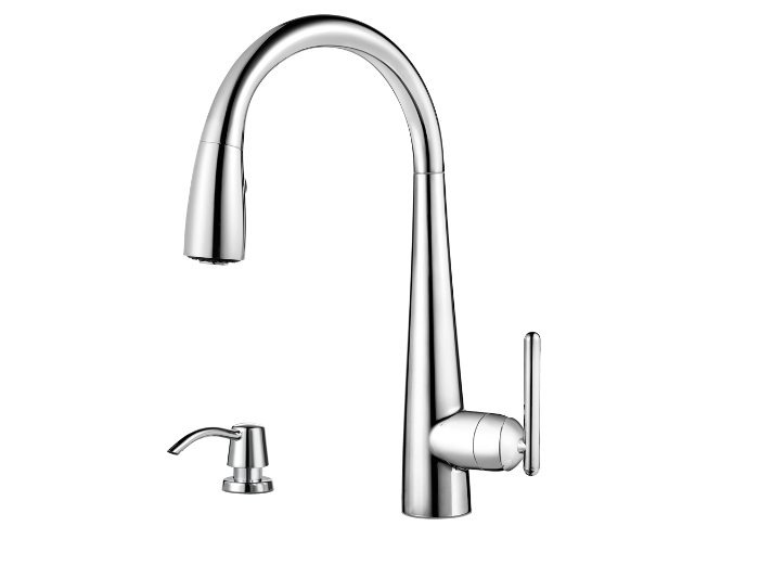 Pfister Lita High Arc Kitchen Faucet With 3 Function Pullout AccuDock  Sprayhead, Available In Various