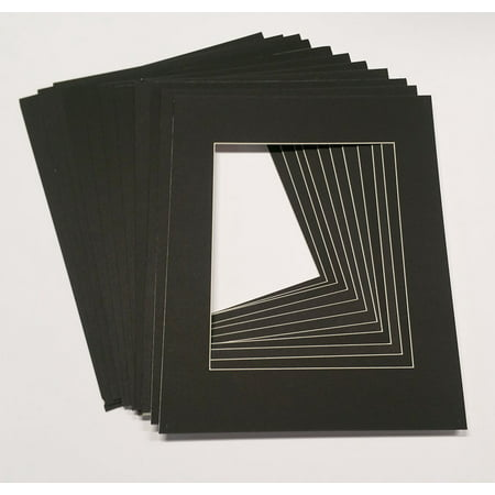 10x12 White Picture Mats With White Core For 8x10 Pictures Fits