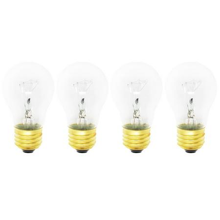 4-Pack Replacement Light Bulb for Frigidaire CFEF366GBB Range / Oven - Compatible Frigidaire 316538901 Light Bulb - image 3 de 3