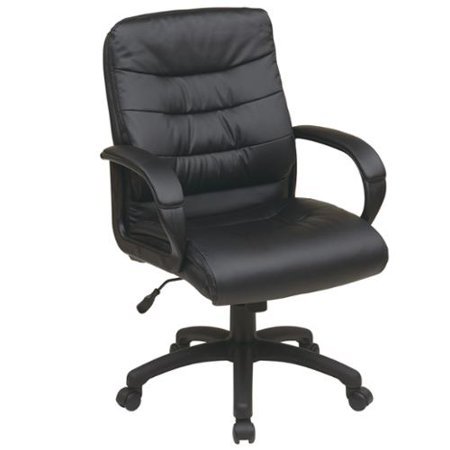 Office Star Products Work Smart Mid Back Faux Leather Executive Chair Walma