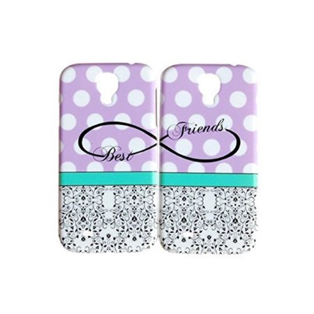 Purple Polka Dot Best Friends Phone Case for the Samsung Galaxy S7 Edge by iCandy