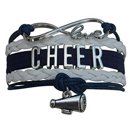 Cheerleader Christmas Gifts (Girls Cheerleading Bracelet, Cheer Gifts- Cheer Jewelry- Cheer Bracelet- Adjustable Cheer Charm Bracelet- Gift For Cheerleaders, Cheer Teams & Cheerleading)