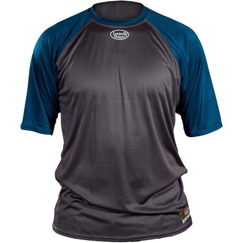 Louisville Slugger Youth Slugger Loose-Fit Short-Sleeve Shirt, Gray/Navy