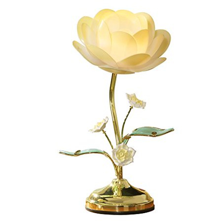 Collections Etc Lotus Flower Table Touch (Antler Table Lamp)