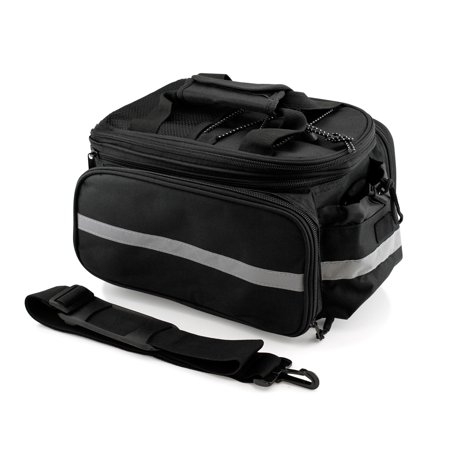 Traveller Pannier - Cycling Bike Bicycle Rear Tail Seat trunk Bag Pannier Pouch Rack Shoulder Travel - Black
