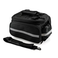 Product Image Cycling Bike Bicycle Rear Tail Seat trunk Bag Pannier Pouch  Rack Shoulder Travel - Black 157e581cdc20