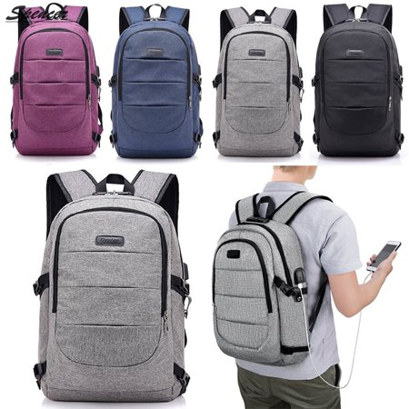 6d010946239d Spencer Laptop Backpack for Men & Women, Anti Theft with lock Water  Resistant Business Backpack with USB Charging Port Fits UNDER 17