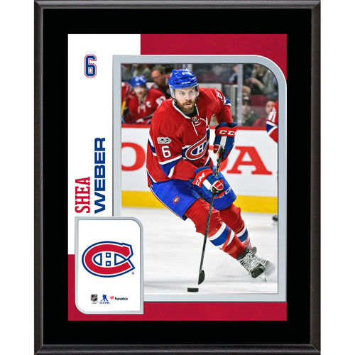 "Shea Weber Montreal Canadiens 10.5"" x 13"" Sublimated Player Plaque - No Size"
