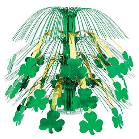 Patricks Day Cascade Centerpiece (Pack of 6 Green and Gold Shamrock St. Patrick's Day Cascade Centerpieces Party Decorations 18