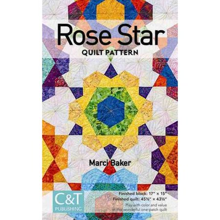Rose Star Quilt Pattern (Paperback)