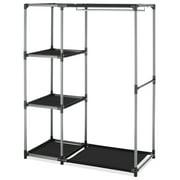 Whitmor Spacemaker® Garment Clothes Rack & Shelves - Silver & Black