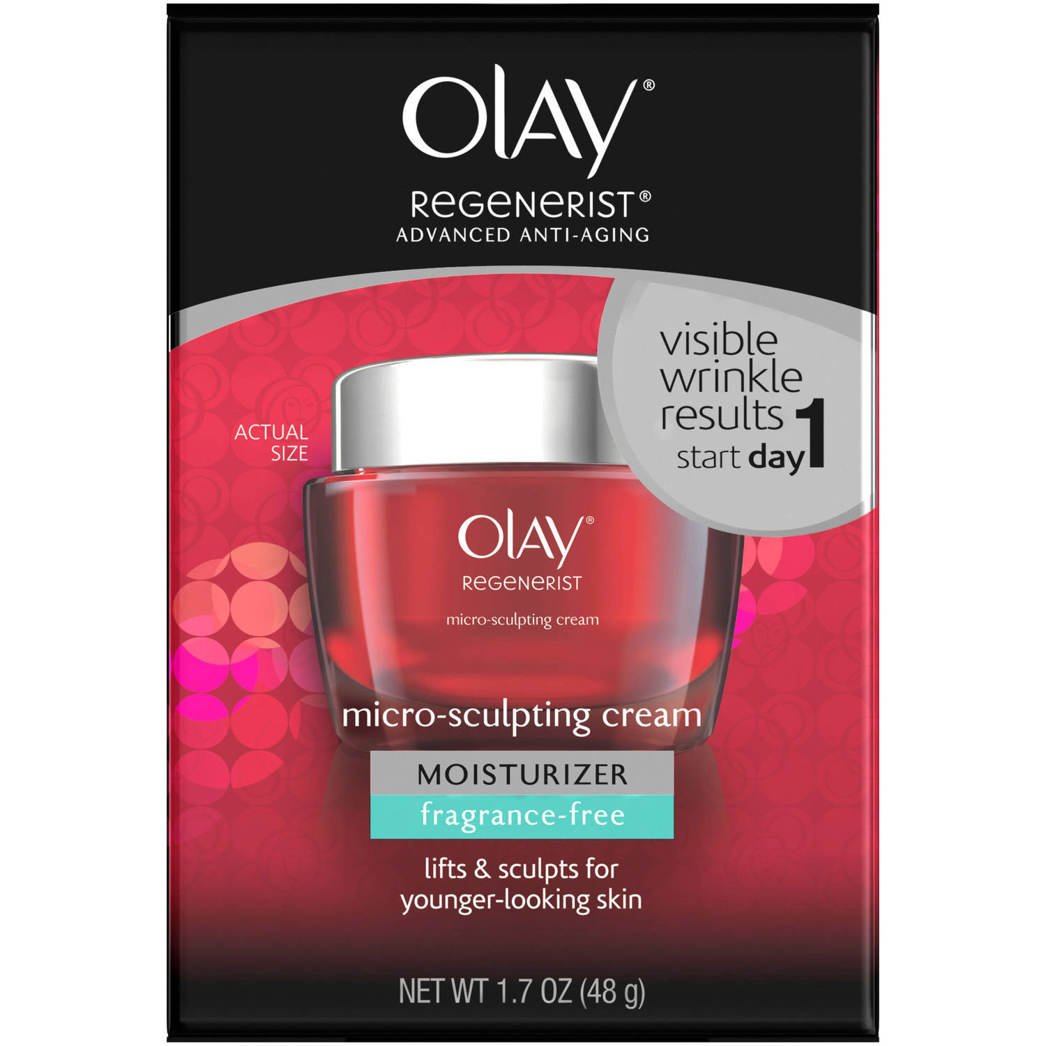 Olay Regenerist Fragrance Free Micro-Sculpting Cream Moisturizer, 1.7 oz