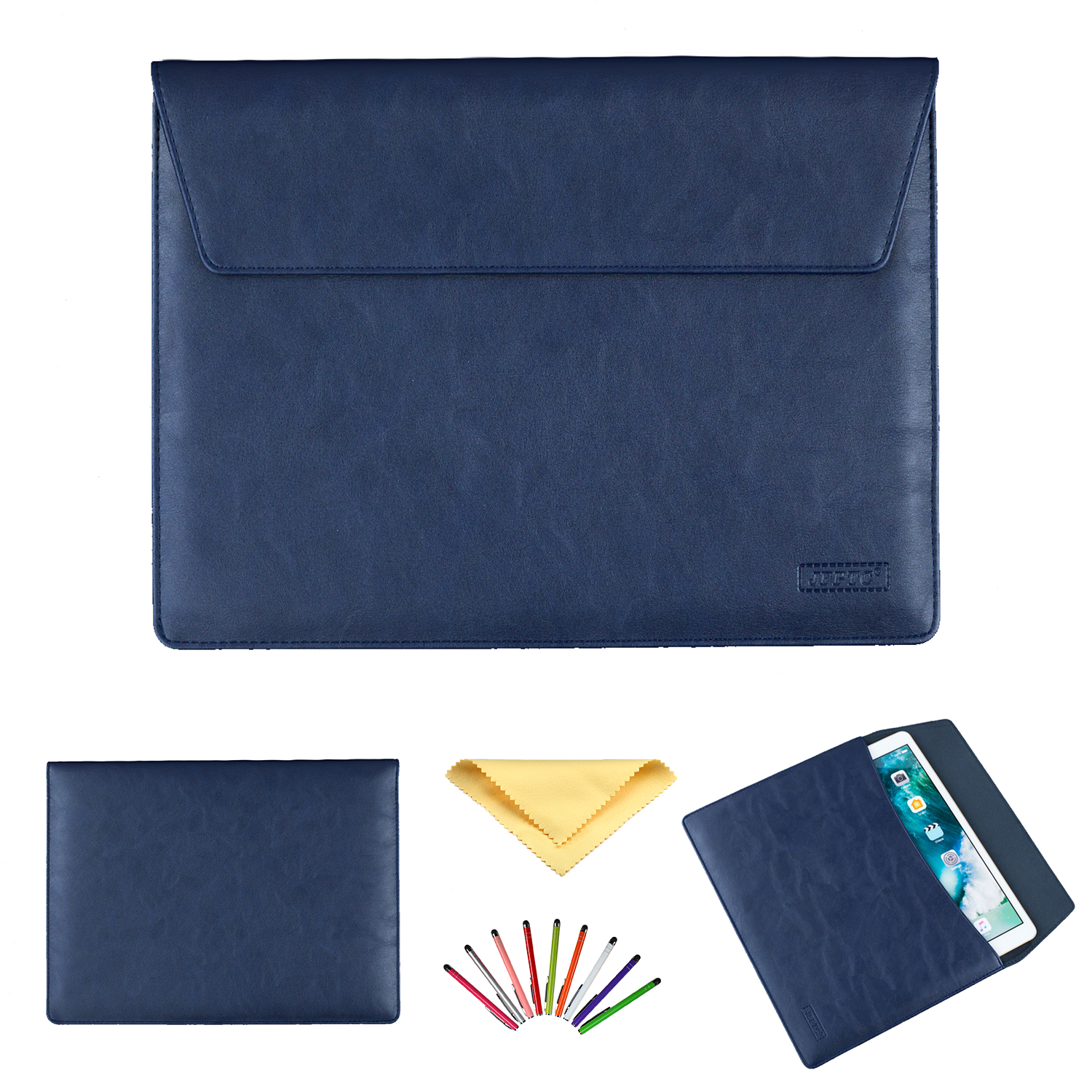 Universal 9.6 inch 9.7 inch 10.1 inch Tablet Sleeve Bag Pouch Case Soft PU Leather Folio Case for iPad 9.7 2018 2017 Amazon Kindle Fire HD 10 Galaxy Tab E 9.6 Tab A 9.7 Tab A 10.1 ETC, Blue