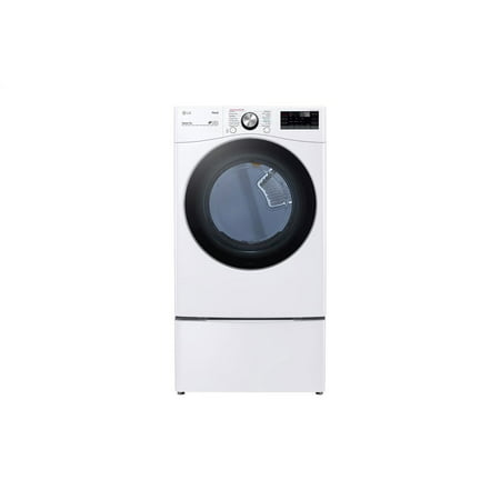 LG DLGX4201W 7.4 cu. ft. Ultra Large Capacity Smart wi-fi Enabled Front Load Gas Dryer with TurboSteam(TM) and Built-In Intelligence