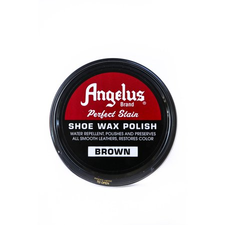 Angelus Bran Leather Shoe Carnauba Wax Polish High Gloss Army Shine 3 oz