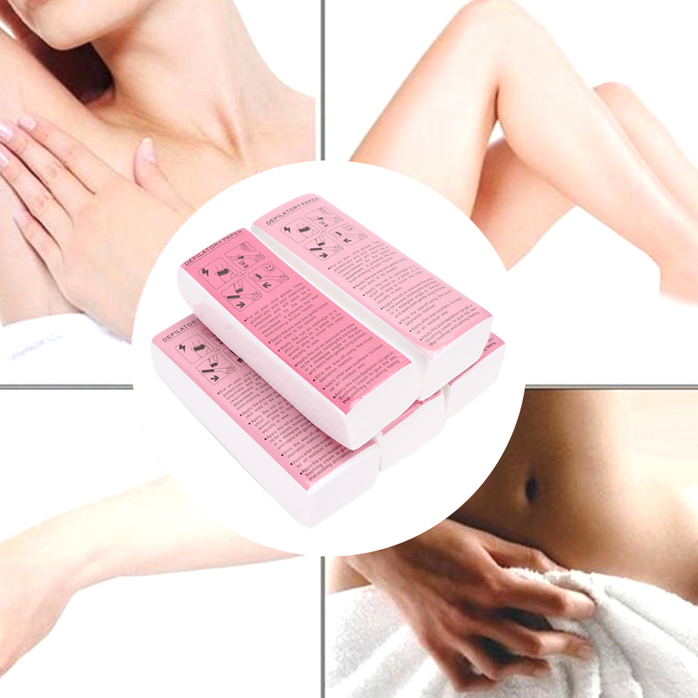 Ylshrf Hair Removal Wax Strips Depilatory Wax Paper 500pcs Non