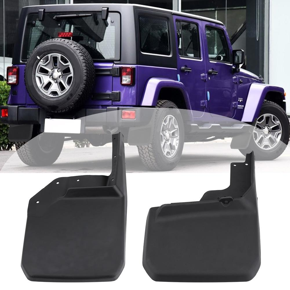 Mud Flaps Splash Guard 4 Pack for Jeep Wrangler JK fit years 07 to 17