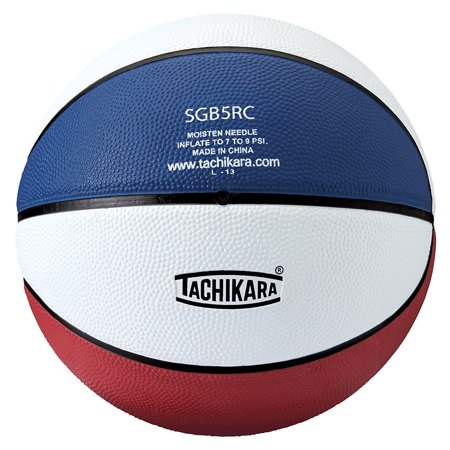 Dual Colored Rubber Basketball (29.5) - Assorted Colors - SCARLET/WHITE/ROYAL One Size, Circumference 29 in Weight 20 - 22 oz By