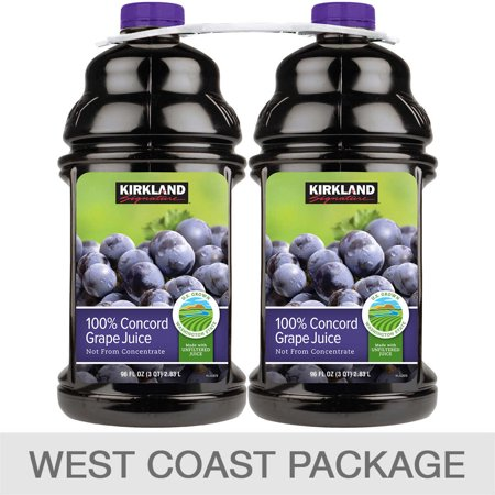 Kirkland Signature 100% Concord Grape Juice, 96 fl oz,