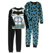Batman Boys' Cotton Thermal 4-Piece Underwear Set by