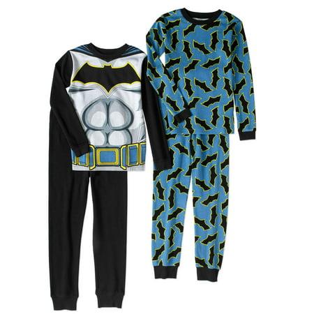 Batman Boys' Cotton Thermal 4-Piece Underwear Set thumbnail