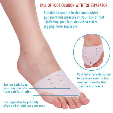 HURRISE 9Pairs/Set Bunion Valgus Corrector Pain Relief Toe Alignment Spreaders Separators Straightener, Bunion Pain Relief, Toe Protector - image 10 de 11