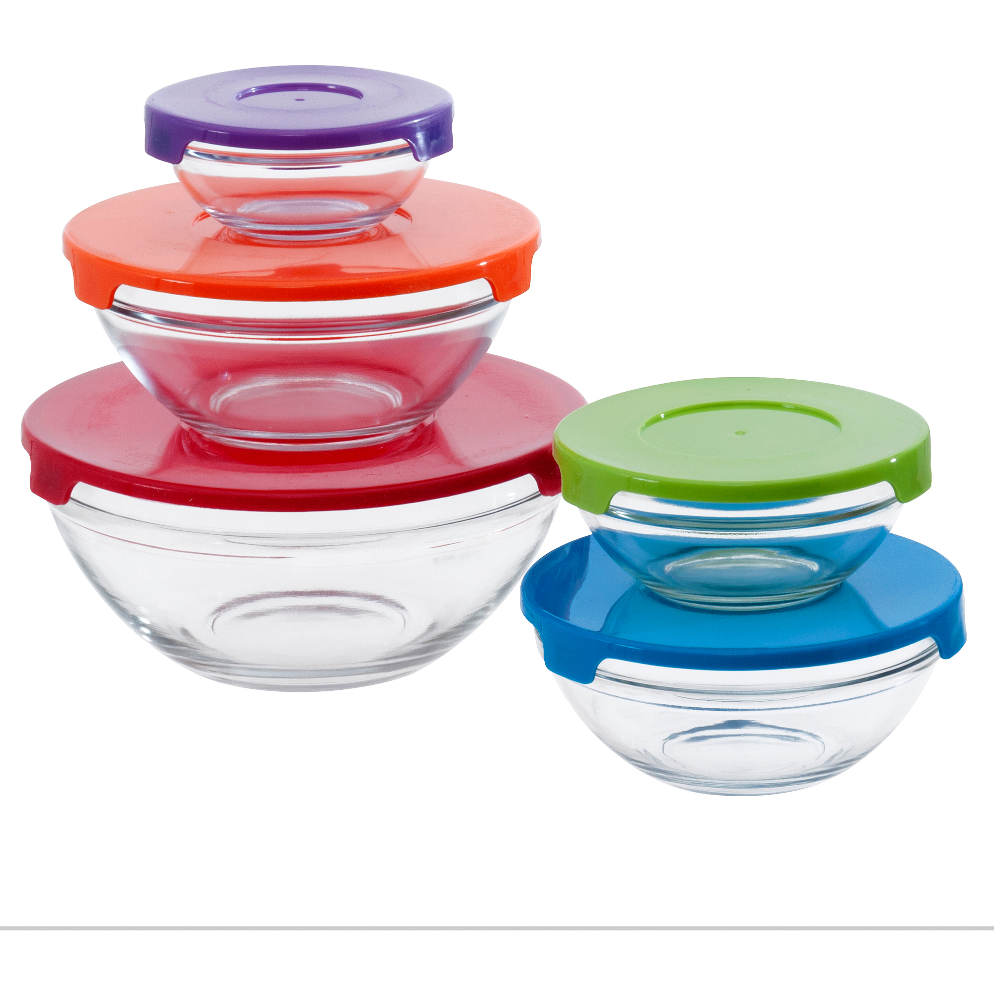 Mainstay Mixing Bowls 10-Piece Set