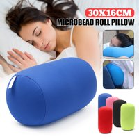 EPS Particles Mini Microbead Pillow Roll Neck Pillow Column Pillow Travel Cushion Home Decor 4 Colors