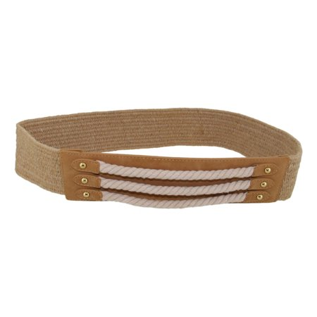 Via Spiga Belted Belt (Via Spiga Nautical Tan Rope Hemp Stretch Belt Size Small  28