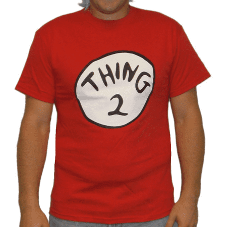 Thing 2 T-Shirt Costume Movie Book Adult Womens Kids Red Couple Twins Shirt Gift