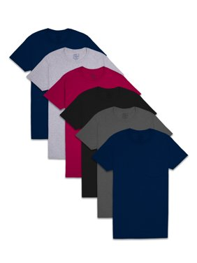 Fruit of the Loom Men's Assorted Fashion Pocket T-Shirts, 6 Pack