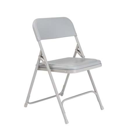 NPS® 800 Series Premium Lightweight Plastic Folding Chair, Grey (Pack of 4)