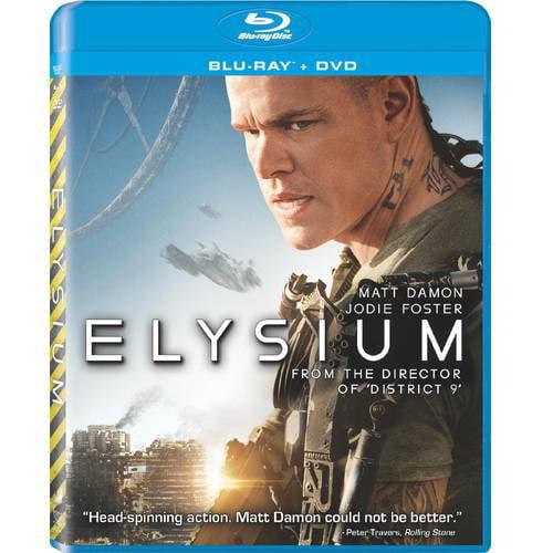 Elysium (Blu-ray + DVD + Digital HD) (With INSTAWATCH) (Anamorphic Widescreen)